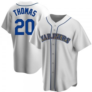 Men's Seattle Mariners Gorman Thomas White Home Cooperstown Collection Jersey - Replica