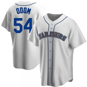 Men's Seattle Mariners Joseph Odom White Home Cooperstown Collection Jersey - Replica