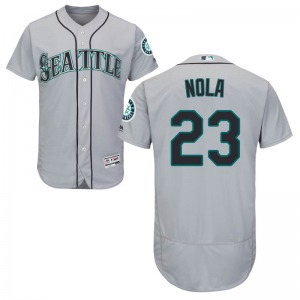 Youth Majestic Seattle Mariners Austin Nola Gray Flex Base Road Collection Jersey - Authentic
