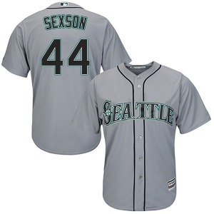 Youth Majestic Seattle Mariners Richie Sexson Gray Cool Base Road Jersey - Replica