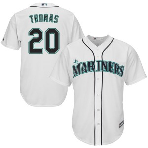 Youth Majestic Seattle Mariners Gorman Thomas White Cool Base Home Jersey - Replica