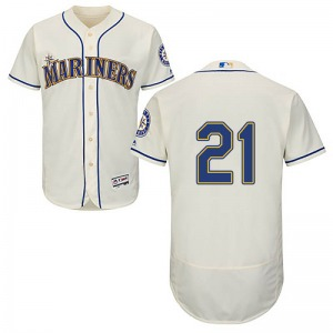 Youth Majestic Seattle Mariners Patrick Wisdom Cream Flex Base Alternate Collection Jersey - Authentic