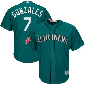 Youth Majestic Seattle Mariners Marco Gonzales Aqua Cool Base 2018 Spring Training Jersey - Authentic