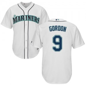 Men's Majestic Seattle Mariners Dee Gordon White Home Cool Base Jersey - Replica