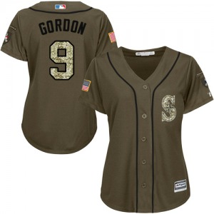 Women's Majestic Seattle Mariners Dee Gordon Green Salute to Service Jersey - Authentic