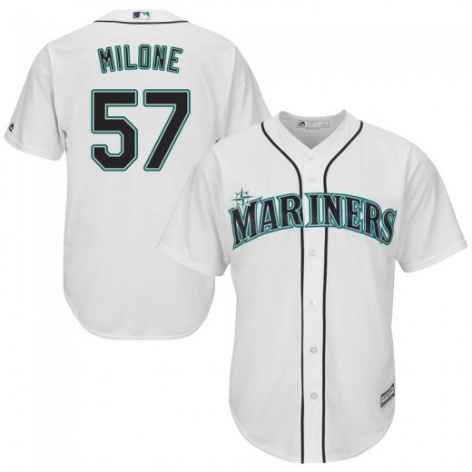 Youth Majestic Seattle Mariners Tommy Milone White Cool Base Home Jersey - Replica
